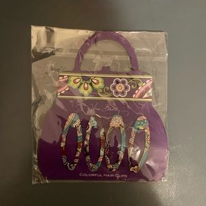 Vera Bradley Colorful Hair Clips in Heather